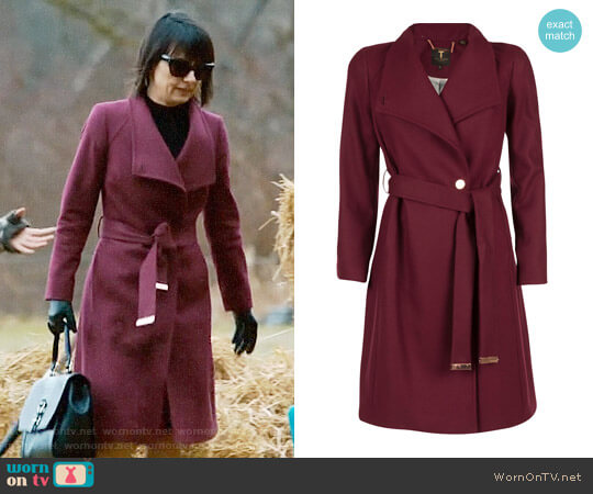 Ted Baker Aurore Coat worn by Constance Zimmer on UnReal