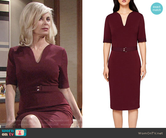 Ted Baker Jesabil Dress worn by Eileen Davidson on The Young & the Restless