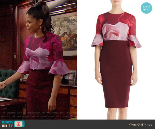 Ted Baker Tzalva Dress worn by Karla Mosley on The Bold & the Beautiful