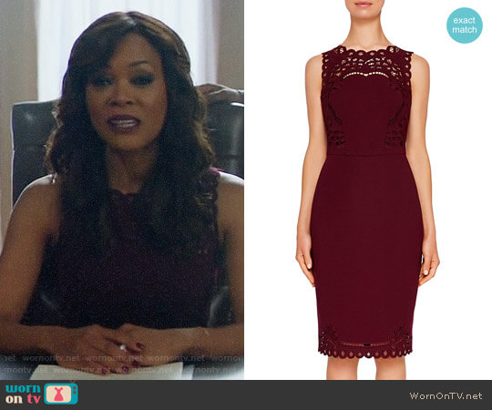 Ted Baker Verita Dress worn by Robin Givens on Riverdale