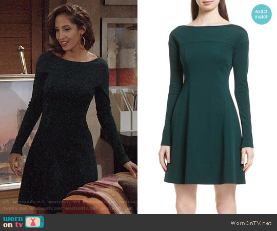 Theory Valentina Dress worn by Christel Khalil on The Young & the Restless