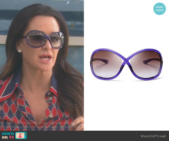 'Whitney' Sunglasses by Tom Ford worn by Kyle Richards on The Real Housewives of Beverly Hills