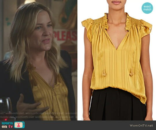 'Deja' Top by Ulla Johnson worn by Jessica Capshaw on Greys Anatomy