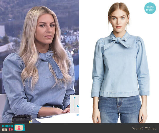 'Wes' Blouse by Ulla Johnson worn by Morgan Stewart on E! News