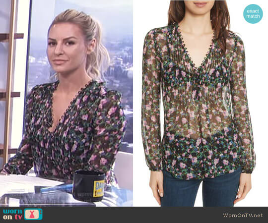 'Lowell' Blouse by Veronica Beard worn by Morgan Stewart  on E! News