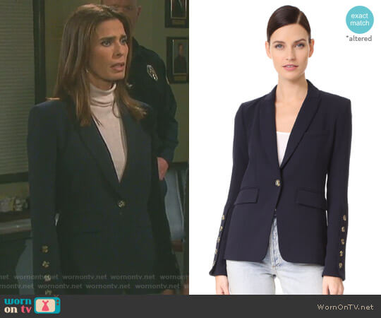 'Steele' Cutaway Button Cuff Jacket by Veronica Beard worn by Kristian Alfonso on Days of our Lives