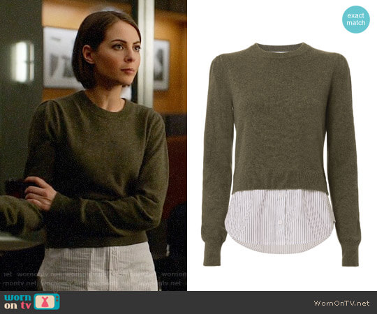 Veronica Beard Jensen Sweater worn by Thea Queen (Willa Holland) on Arrow