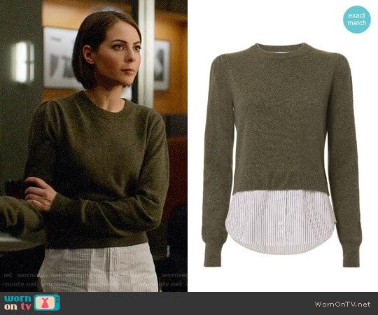 Veronica Beard Jensen Sweater worn by Willa Holland on Arrow