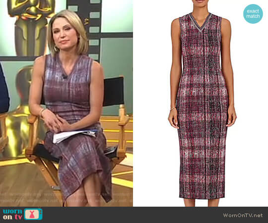 Jacquard-Knit Midi-Dress by Victoria Beckham worn by Amy Robach  on Good Morning America