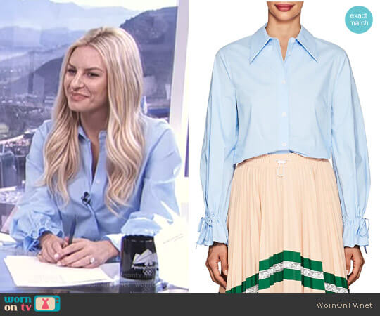 'Porzia' Blouse by Vivetta worn by Morgan Stewart (Morgan Stewart) on E! News