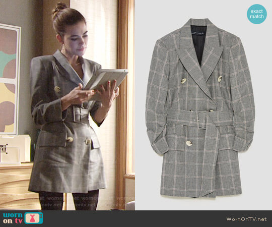 Zara Dress Blazer worn by Victoria Newman (Amelia Heinle) on The Young & the Restless