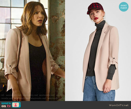 Zara Long Blazer worn by Katharine McPhee on Scorpion