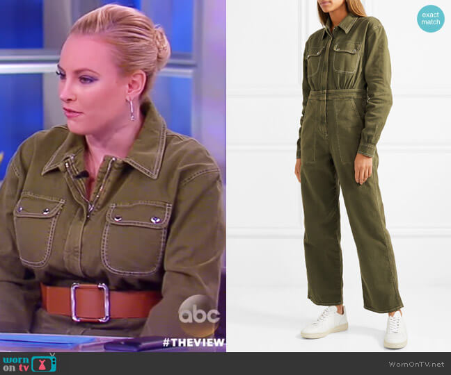 Denim Jumpsuit by Alexa Chung worn by Meghan McCain on The View
