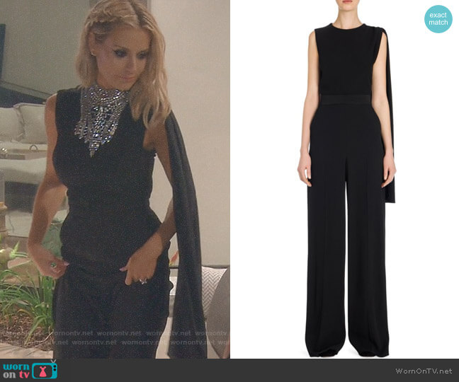 repe Wool Jumpsuit by Alexander McQueen worn by Dorit Kemsley on The Real Housewives of Beverly Hills