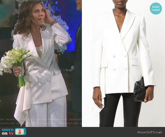 ouble Breasted Blazer by Alexander McQueen worn by Kristian Alfonso on Days of our Lives
