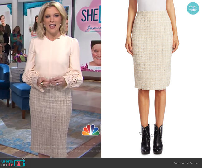 Wool Tweed Pencil Skirt by Alexander McQueen worn by Megyn Kelly  on Today