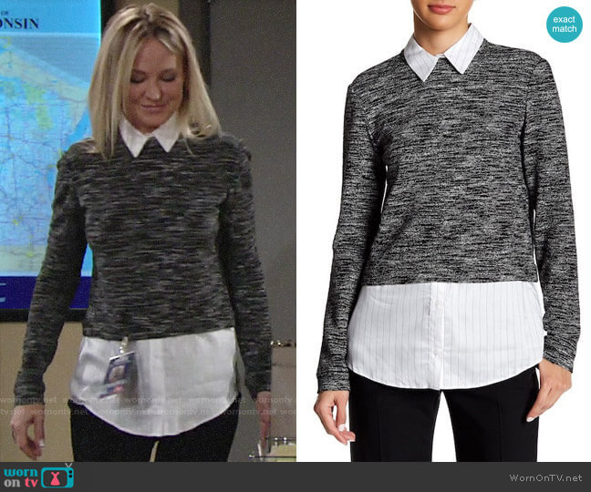 Alice + Olivia Maelynn Sweater worn by Sharon Collins (Sharon Case) on The Young & the Restless