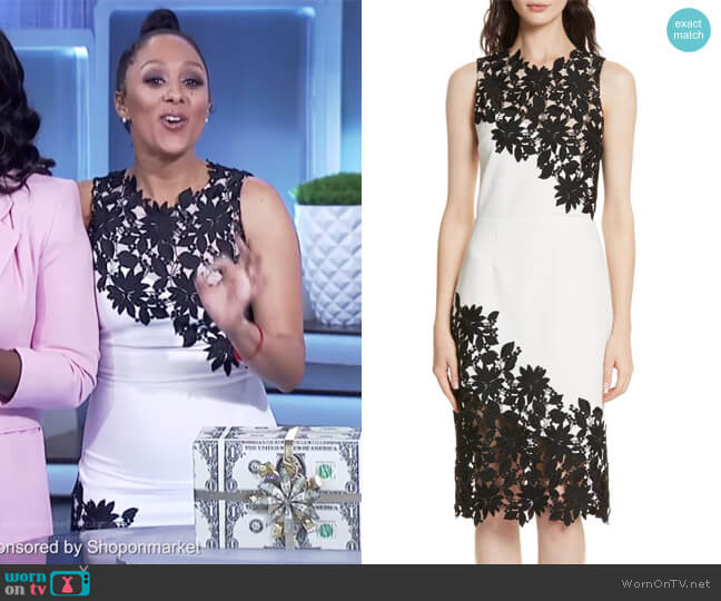 Margy Sheath Dress by Alice + Olivia worn by Tamera Mowry on The Real