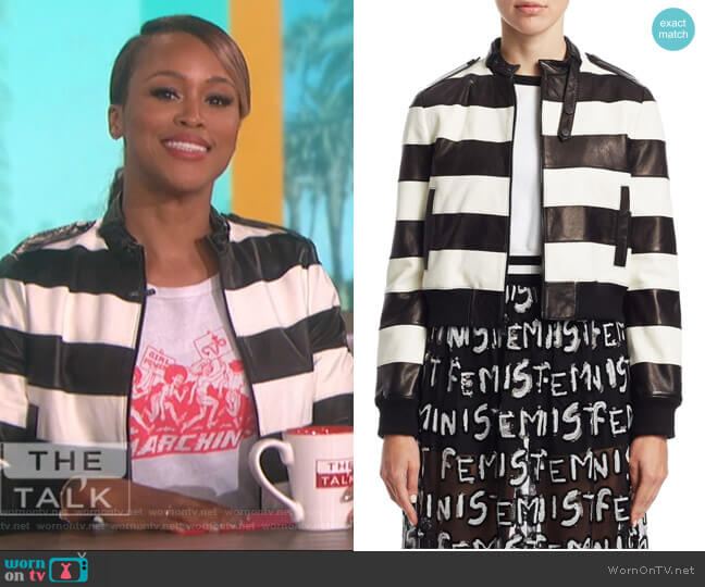 Marchin' Graphic Tee by Re/Done worn by Eve  on The Talk