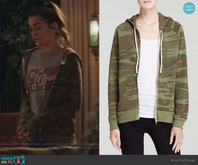 Adrian Camo Zip Hoodie by Alternative worn by Callie Jacob (Maia Mitchell) on The Fosters