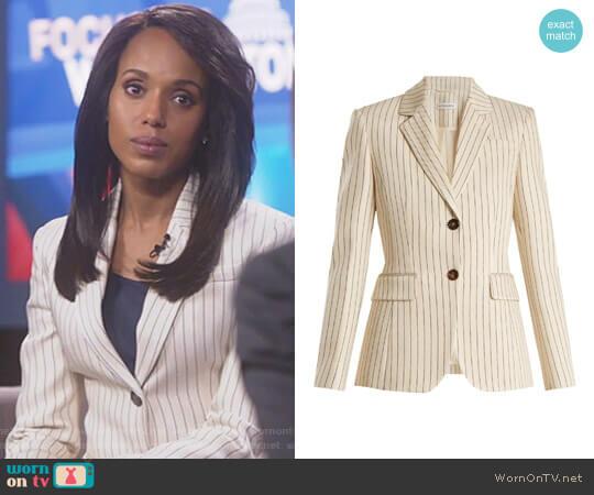 'Fenice' Pinstriped Blazer by Altuzarra worn by Kerry Washington on Scandal
