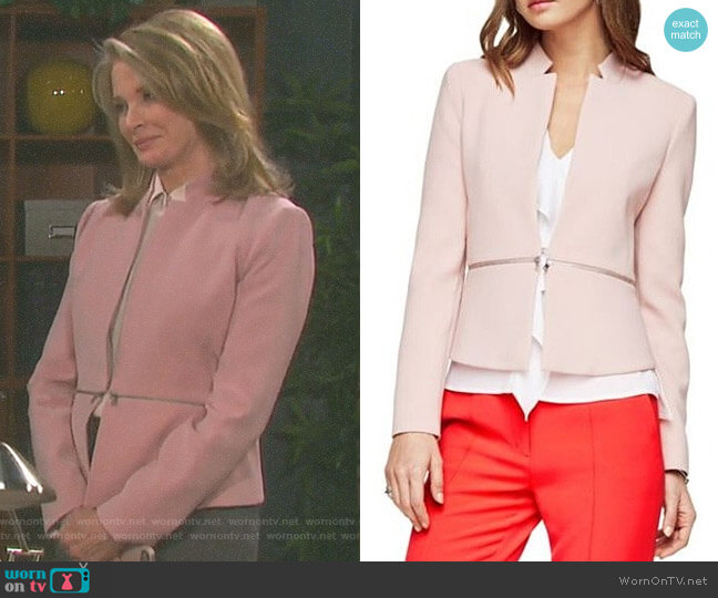 'Barrett' Peplum Jacket by BCBGMaxazria worn by Deidre Hall on Days of our Lives