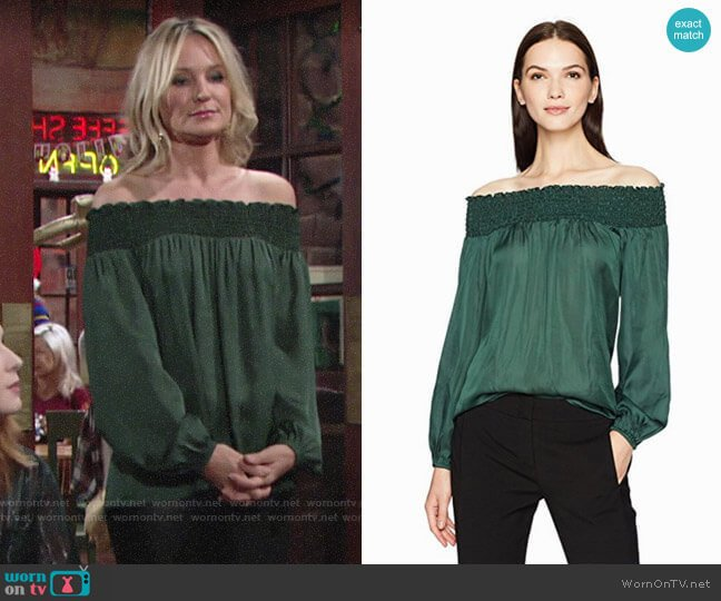 Bcbgmaxazria Milou Top worn by Sharon Collins (Sharon Case) on The Young & the Restless