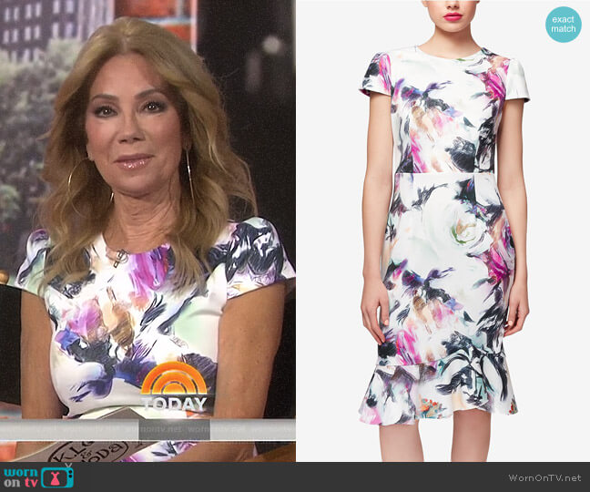 Floral-Print Ruffle-Hem Dress by Betsey Johnson worn by Kathie Lee Gifford  on Today