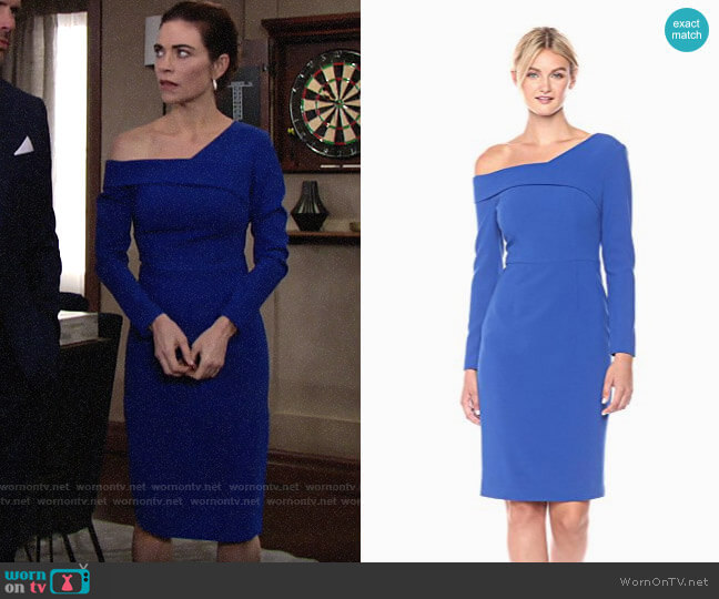 Black Halo Benson Sheath Dress worn by Victoria Newman (Amelia Heinle) on The Young & the Restless