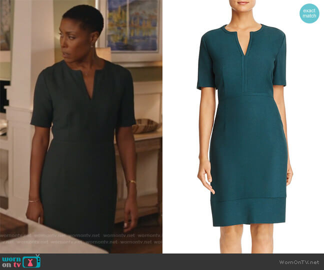 Dalesana Sheath Dress by Boss worn by Lynn Stewart (Christine Adams) on Black Lightning