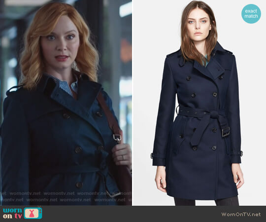 Bramington Cotton Blend Trench Coat by Burberry worn by Beth Boland (Christina Hendricks) on Good Girls