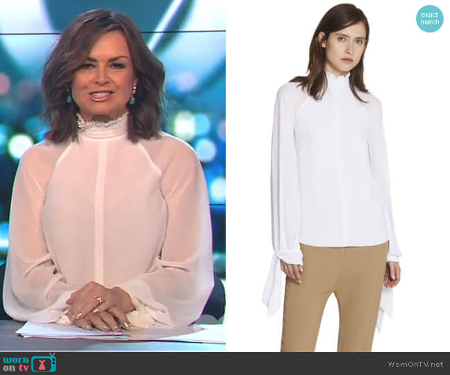 Noelle Shirred Top by Camilla and Marc worn by Lisa Wilkinson on The Project