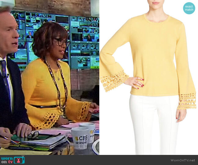 Deco Bell Sleeve Sweater by CATHERINE Catherine Malandrino worn by Gayle King  on CBS This Morning
