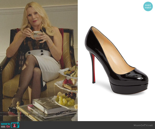 'Dirditta' Platform Pump by Christian Louboutin worn by Nicollette Sheridan on Dynasty