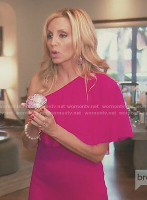 Camille's pink one-shoulder gown on The Real Housewives of Beverly Hills