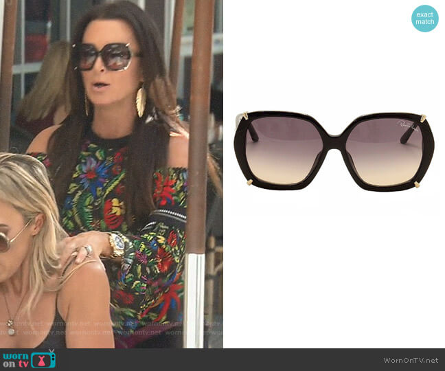 'Turais' Sunglasses by Roberto Cavalli worn by Kyle Richards  on The Real Housewives of Beverly Hills
