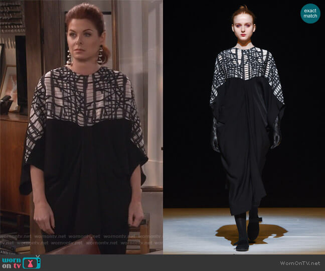 AW17 collection by Chalayan worn by Grace Adler (Debra Messing) on Will & Grace