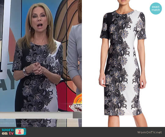 Colorblock Midi Dress by Chetta B worn by Kathie Lee Gifford  on Today