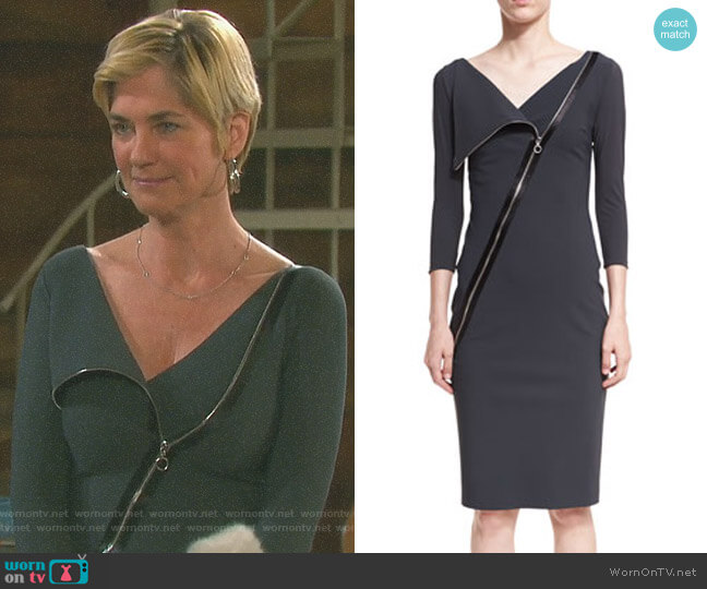 'Dianthe' Dress by Chiara Boni La Petite Robe worn by Eve Donovan (Kassie DePaiva) on Days of our Lives