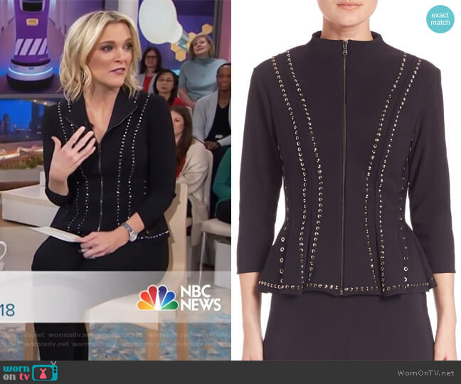 Eduarda Studded Jacket by Chiara Boni La Petite worn by Megyn Kelly on Today
