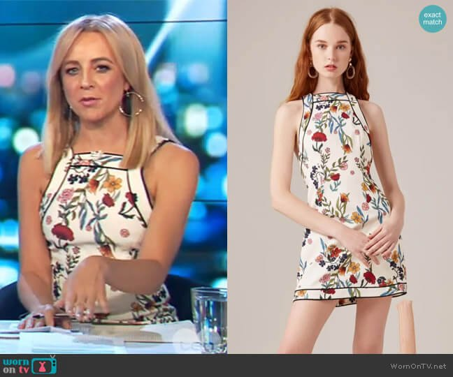 Entitle Short Sleeve Dress by C/Meo Collective worn by Carrie Bickmore on The Project