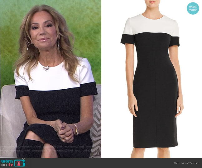 Color-Block Dress by Adrianna Papell worn by Kathie Lee Gifford  on Today