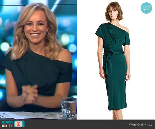 Twist Bodycon Dress by Country Road worn by Carrie Bickmore  on The Project