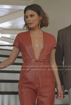 Fallon's yellow ruffled blouse on Dynasty