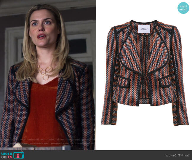 Striped Fitted Jacket by Derek Lam 10 Crosby worn by Rachael Taylor on Jessica Jones