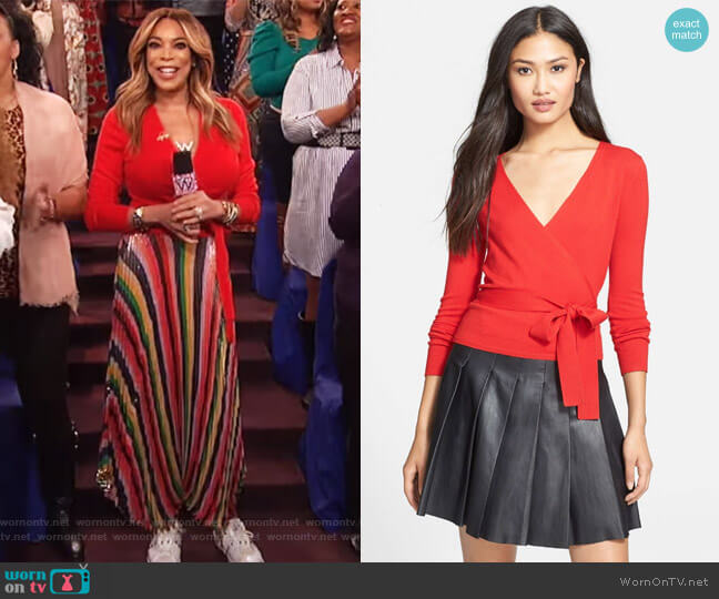 'Ballerina' Cardigan Sweater by Diane von Furstenberg worn by Wendy Williams on The Wendy Williams Show