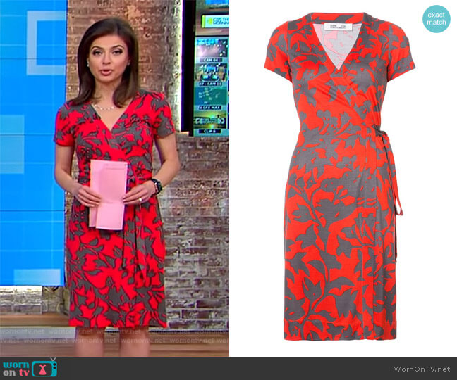 Julian short-sleeve wrap dress by Diane von Furstenberg worn by Bianna Golodryga  on CBS This Morning