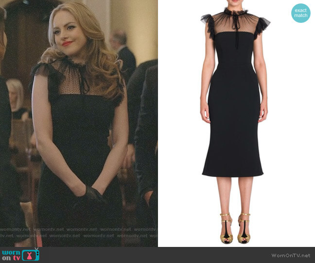Tulle Accent Cady Dress by Dolce & Gabbana worn by Fallon Carrington (Elizabeth Gillies) on Dynasty