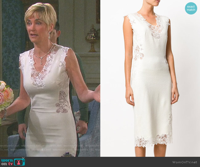 Lace Trim Dress by Ermanno Scervino worn by Eve Donovan (Kassie DePaiva) on Days of our Lives