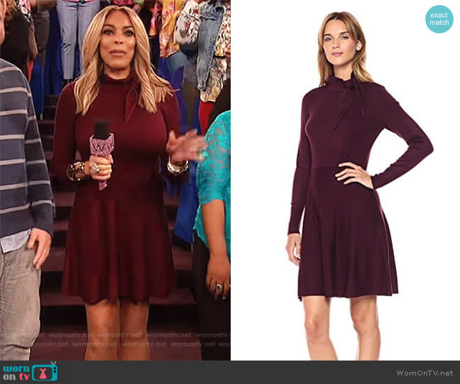 Tie Neck Sweater Dress by Eliza J worn by Wendy Williams  on The Wendy Williams Show